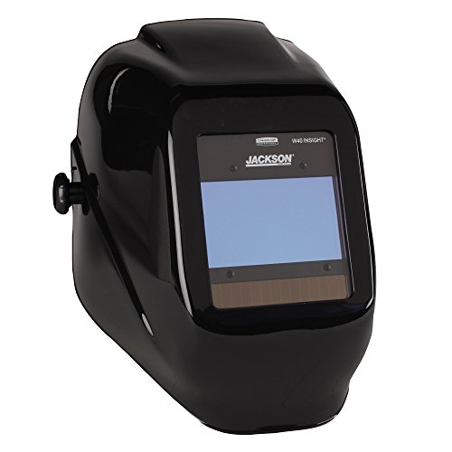 Gold Welding Lens - Jackson Safety 46131 Insight Variable Auto Darkening Welding Helmet, HaloX,Black