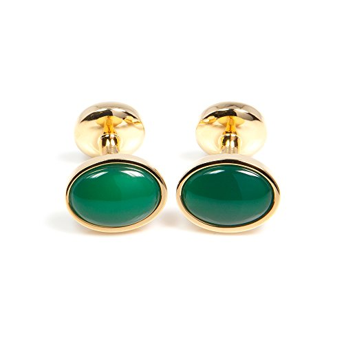 Links Gold Men Gr On With Cufflinks 1 Cuff Of Any Button Precious Stone Occasion Plated Classic For Pair Oval Bar Business ZqnY81