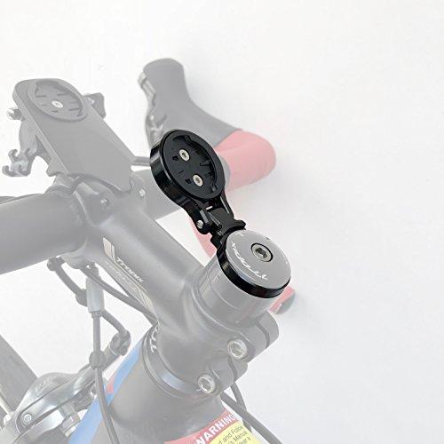 Thinvik Aluminum Alloy Bike Computer Stem Mount for Garmin Edge 820 810 800 520 510 500 25 - Angle Adjustable,Hinge Feature ()