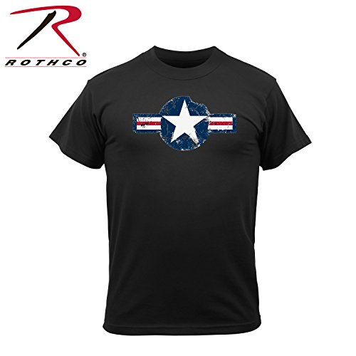 Rothco Vintage Air Corps Color Logo T-Shirt, Black, Medium