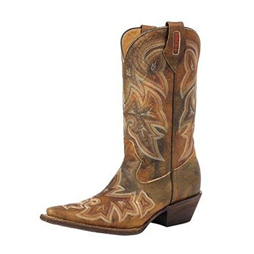 Women's Rocky HandHewn Women's Snip Toe Western Boots, CALICO, 7M