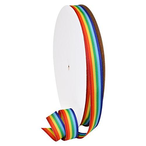 Morex Ribbon 99505/100-815 Grosgrain Stripes Polyester Decorative Ribbon, 7/8