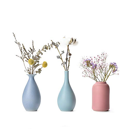 CHP Ceramic Vase for Flowers & Decor Small Ceramic Set of -