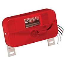 Bargman 34-92-004 #92 Series Red Surface Mount Tail Light with Back-Up and License Bracket