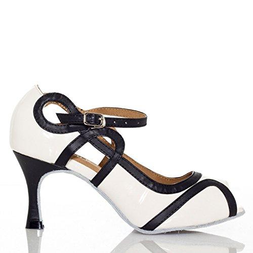 Miyoopark - salón mujer, color blanco, talla 35