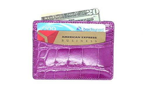 Case Card Pocket Genuine 5 Card Alligator Alligator Business Case Genuine dwqYxI