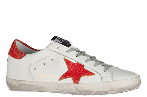 Golden Goose scarpe sneakers donna in pelle nuove superstar bianco