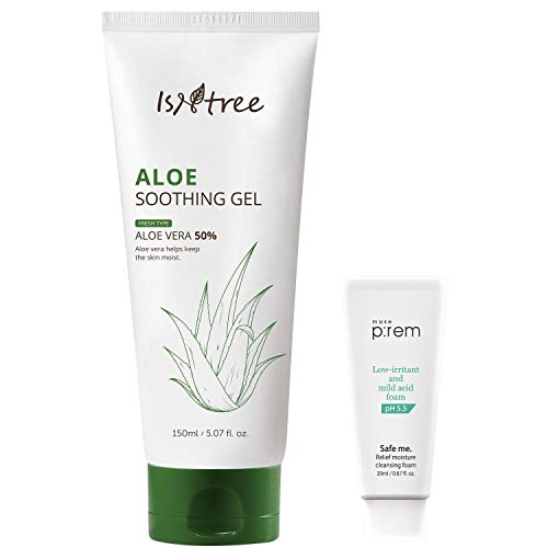 ISNTREE Aloe Soothing Fresh Gel with Moisture-Rich Aloe Vera Extracts 5.07 fl. oz, | Moisturizing Essence for Dry Sensitive Skin | Hypoallergenic Reduces Redness & Acne Breakouts | Hydrating Skincare