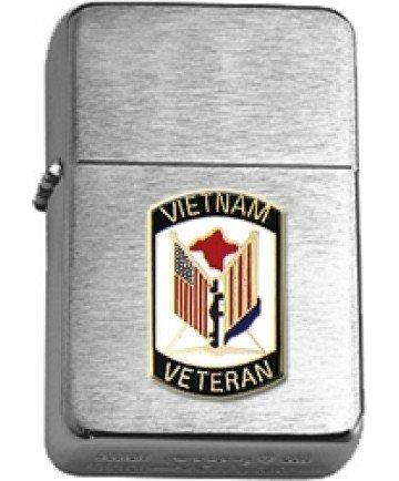Vietnam Veteran Brushed Chrome Lighter