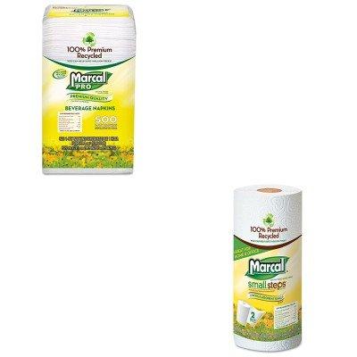 KITMRC28CTMRC6709 - Value Kit - MarcalPro 100% Recycled Beverage Napkins (MRC28CT) and Marcal Paper Towels (MRC6709) (Marcal Beverage Napkin)