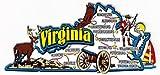 Flagline Virginia - Magnet