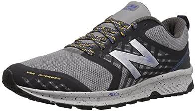 New Balance Men's Nitrel v1 FuelCore Trail Running Shoe, Grey/Blue, 9 D US