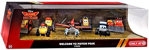 Pontoon Plane - Disney PLANES: Fire & Rescue Exclusive 1:55 Deluxe Die Cast 7-Pack Welcome to Piston Peak [Pontoon Dusty, Maru, Dynamite, Pinecone, Avalanche, Drip & Blackout]
