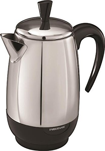 New Farberware Fcp280 Stainless Steel 2 To 8 Cup Electric Perculator 6151153 by Farberware