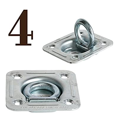 DC Cargo Mall D Ring Tie-Down Anchors (Large Square), Recessed Pan Fitting DRings Heavy Duty Steel Cargo Tie Downs, Truck/Trailer/Flatbed/Pickup TieDown Anchor: Automotive