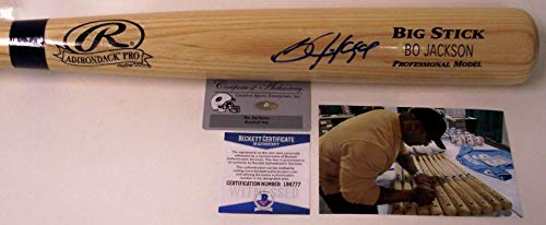 Bo Jackson - Autographed Official Rawlings Ash Big Stick Bat - BAS Beckett