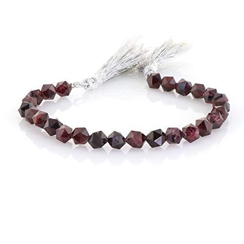 Bracelet Loose Beads Metal Natural Garnet Bead Making Chips Necklace Stone Charm