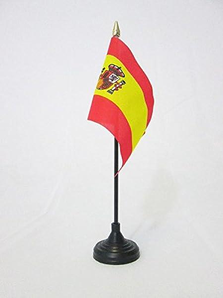 AZ FLAG Bandera de Mesa de ESPAÑA 15x10cm - BANDERINA de DESPACHO ESPAÑOLA 10 x 15 cm Punta Dorada: Amazon.es: Hogar