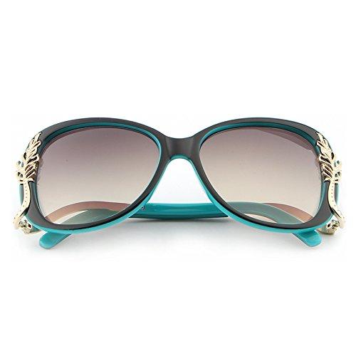 Rose Y Marque Sol Luxe Deep Polycarbonate Feminino Métal De weifeng Lunettes Designer Blue Soleil Oculos Rouge Femmes Rétro Cadre Uv400 vCqw5gvrxn