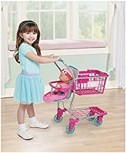 Amazon.com: My Sweet Love Hot Pink Stroller, Shopping Cart ...