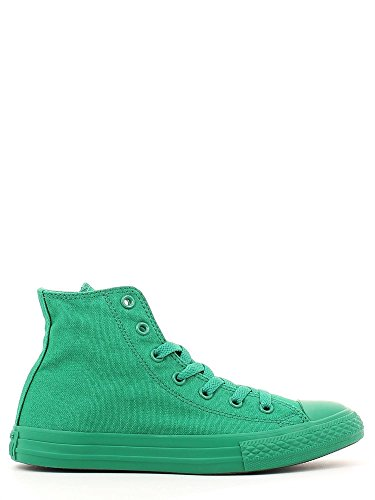 Converse Star Hi Canvas Monochrome, Chaussures en Forme de Bottines Mixte enfant Vert - Vert