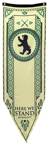 """Game of Thrones House Mormont Tournament Banner - 19"""" by 60"""""""