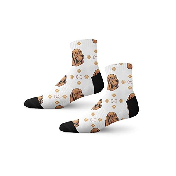 Funny Mens Socks Sussex Spaniel Dog Bones Paws Polyester Crazy Socks Womens 1