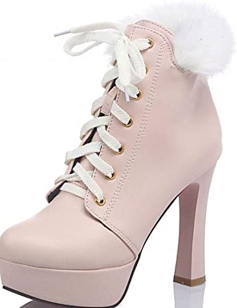 NJX/ hug Zapatos de mujer-Tacón Robusto-Comfort / Puntiagudos-Tacones-Oficina y Trabajo / Vestido-Semicuero-Negro / Gris , black-us7.5 / eu38 / uk5.5 / cn38 , black-us7.5 / eu38 / uk5.5 / cn38