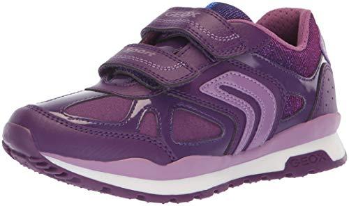 (Geox Pavel Girl 1 Sport Sneaker, Prune/Lavender 26 Medium EU Toddler (9 US))