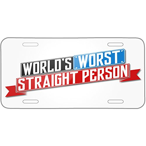 Neonblond Funny Worlds worst Straight Person Metal License Plate -  plate-01-129981