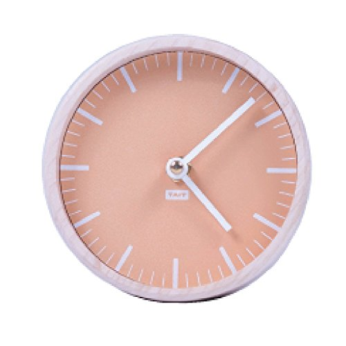 (TAIT Design Co. Solid Maple and Steel Desk Clock Made in USA (Peach))