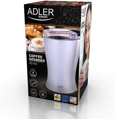 Adler AD 443 Molinillo de café, 150 W, Plateado: Amazon.es: Hogar