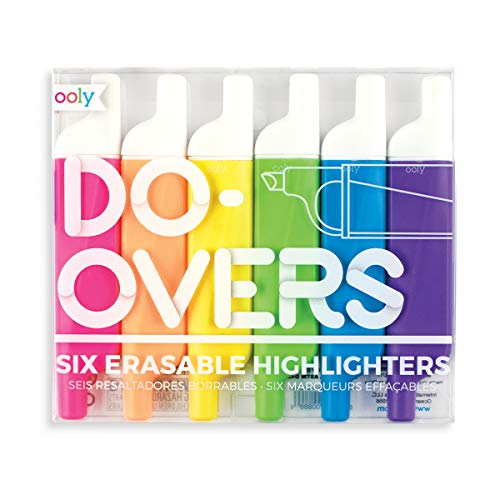 Plastic Highlighters Set - Ooly Do Over Highlighters - Set of 6