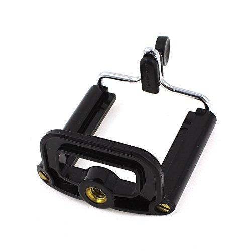 Black Retractable Universal Bracket Adapter Tripod Mount Phone Holder
