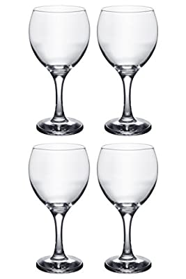 Classic Crystal Clear Stemmed Wine Glass, Set of 4