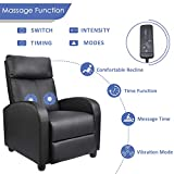 Homall Recliner Chair Padded Seat Massage Pu