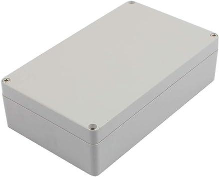 DealMux 200 mm x 120 mm x 56 mm Caja de plástico IP65 a prueba de polvo Caja de conexiones DIY Caja gris: Amazon.es: Bricolaje y herramientas