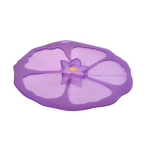 Charles Viancin - Purple Hibiscus Silicone Lid (Medium)