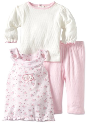 Rene Rofe Baby Newborn Girls 3 Piece Dress Set