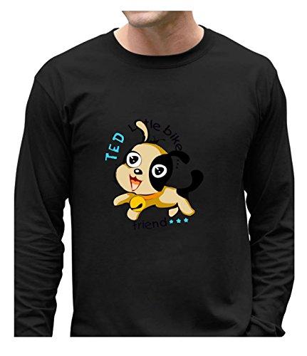 [Fatal Decision Men's Funny Long-Sleeve Top Cute Dog black] (Mens Disco Jumpsuit)