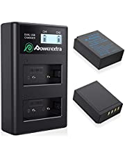 Powerextra 2x Replacement NP-W126 NP-W126S Battery & LCD Smart Charger Compatible with Fujifilm X100F X-A1 X-A2 X-A3 X-A5 X-A10 X-E2 X-E2S X-Pro1 X-Pro2 X-T1 X-T2 X-T3 X-T10 X-T20 X-T100 X-H1 FinePix HS33EXR HS50EXR Camera