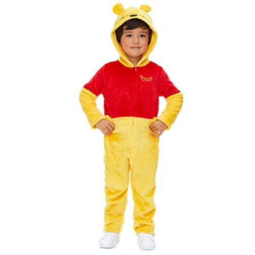 Disney Winnie The Pooh Infant Baby Fleece Costume Hooded Coverall 24 ()