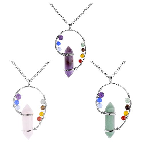 Natural Gemstones Hexagonal Necklace Christmas
