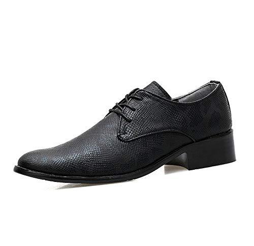 Xxoshoe Chaussures pour Hommes en Cuir Chaussures pour Hommes Hommes Hommes Chaussures pour Hommes Chaussures Pointues Chaussures pour Hommes en Angleterre Chaussures pour Hommes 44|Noir 443a6a