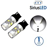 7440 led bulb - SiriusLED Extremely Bright 2835 Chipset Projection 1400 Lumen LED Back up Brake Tail Turn Signal Light Bulb Pure White Size 7440 7440A Pack of 2