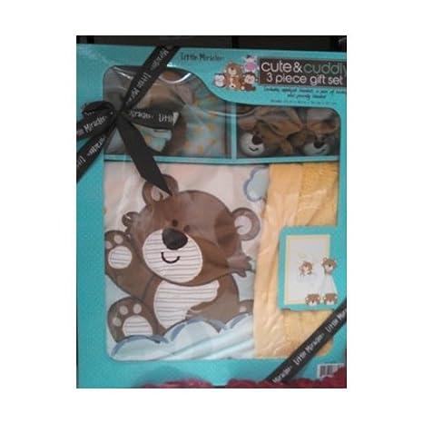 Amazon.com: Pequeños Milagros Cute & Cuddly 3 piezas bebé ...