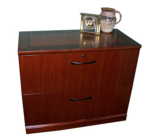 ento Lateral File, 2 Interlocking Drawers, Bourbon Cherry Veneer (Veneer Lateral File)