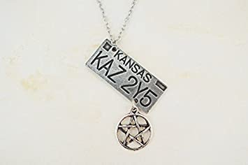 Supernatural Inspired License Plate Necklace KAZ 2Y5 Dean Winchester
