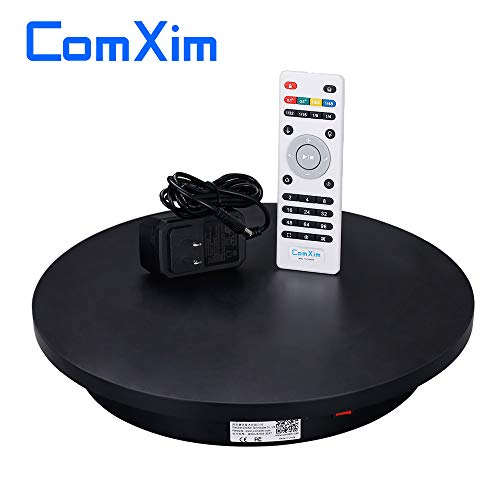 ComXim Professional 360 Degree Photography Turntable for Product Photography, 15.8in(40cm) Diameter,Automatic Remote Control Angle,Speed,Direction, Various Rotation Mode (Black)