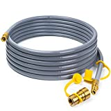 X Home 24 Foot Natural Gas and Propane Gas Hose Assembly 3/8'' Female Pipe Thread x 3/8'' Male Flare Quick Disconnect